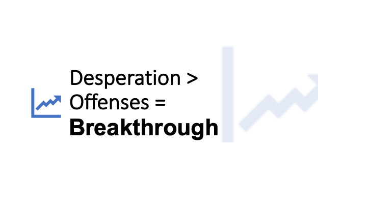 When Desperation is Greater than Offenses Equals Breakthrough